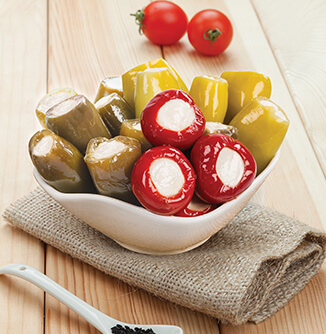 Three Peppers Stuffed with Cheese